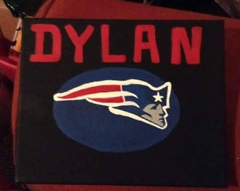 personalized handpainted 8x10 acrylic canvas