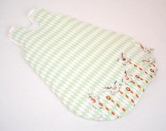 Winter baby girl sleepsack carousel, cute newborn gift idea, sleeping bag