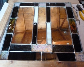 stained glass mirrored panel