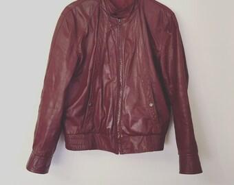 Vintage Oxblood Leather Jacket