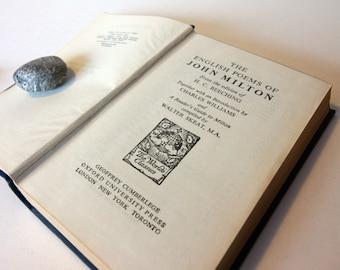 English Poems John Milton Poetry Book Vintage 1940 Book Of Poems Hardback Blue Gift