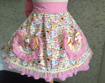 "Handmade ""Cupcake Overload"" hostess apron"