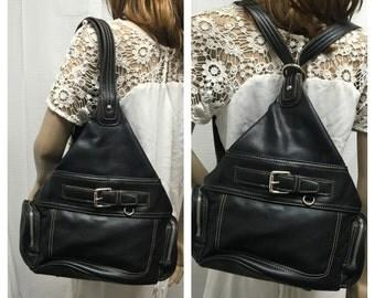 Nine West , faux leather, black, black backpack, bag, purse , shoulder bag,