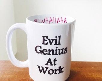 Evil Genius coffee cup funny coffee mug