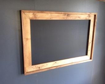 "36"" x 48""  Rustic Framed MAGNETIC Chalkboard, Rustic Wedding Chalkboard, Kitchen Menu, Menu Board, Rustic Frame"