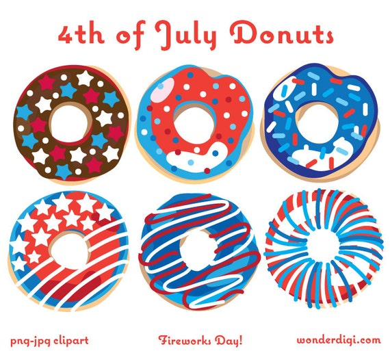 May The 4th Be With You Clip Art: 4th Of July Clipart Donuts Clip Art Independence Day Donuts