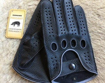 Peccary Leather Gloves Special Edition Black Peccary Driving Gloves for men's