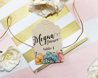 Table Number Tags, Wedding Place Settings, Wedding Name Tags, Guest Seating Tags, Rustic Wedding Table Numbers Tags