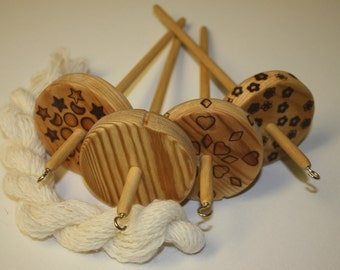 Drop Spindle - 60 gram, Low or High Whorl, Handmade Wooden
