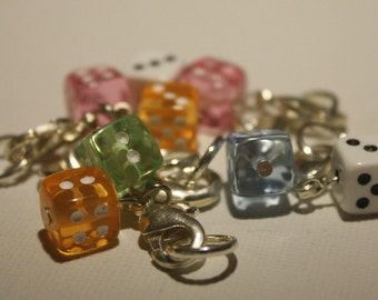 Dice Stitch Markers -  for Knitting or Crochet