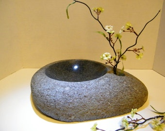 Centerpiece/ Ikebanna Vase/Natural Rock Bowl/Stone Bowl