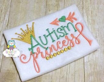 Autism Princess Shirt or Bodysuit, Autism Awareness Shirt, Autism Princess, Autism Shirt or Bodysuit, Autism Awareness, Autism, Girl Autism