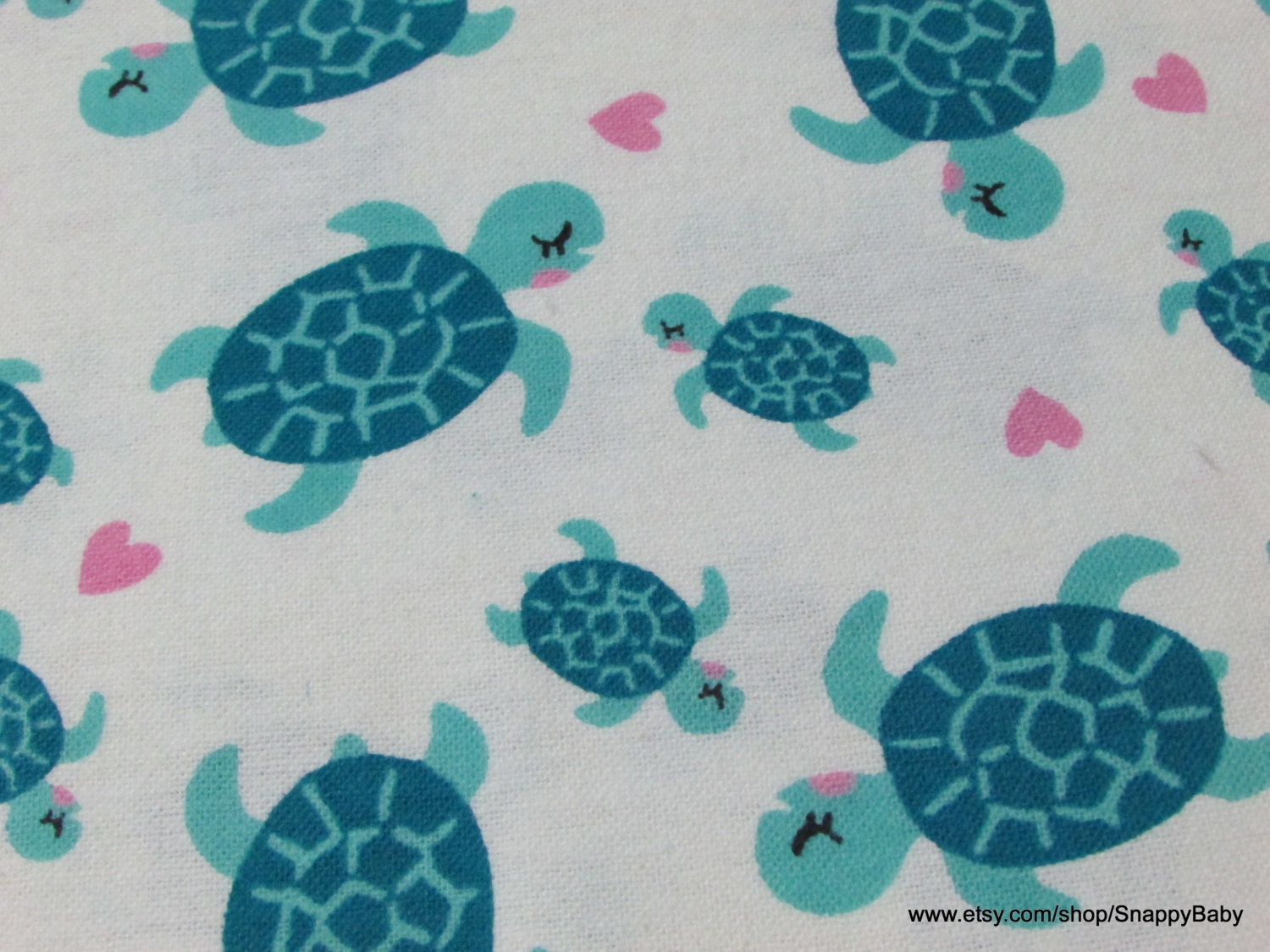 Flannel fabric mermaids turtles by the yard 100 for Flannel fabric