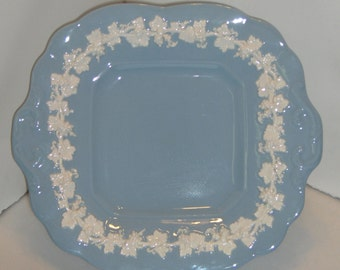 Wedgwood of Eturia and Barlaston Embossed Queensware Made in England Blue and White, Free Standard Shipping in the U.S.