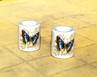 Beautiful Japanese Butterfly Candlestick Holders