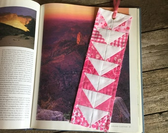 Quilt Block Bookmark, Flying Geese pattern