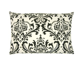 Pillowcase OZBORNE natural black Baroque ornament 40 x 60 cm