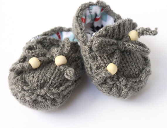 PDF Knitting Pattern Baby Moccasin Loafers