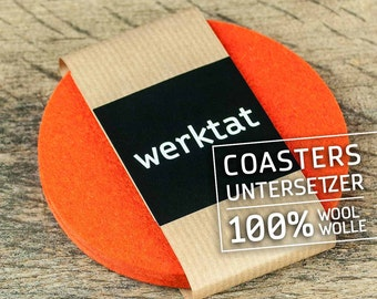 "round felt coasters, Ø 10 cm/3,93"", orange"