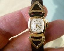 vintage ladies watch, lecoultre watch, original box, swiss mechanical watch, 17 jewels watch