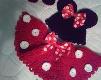 Crochet Minnie mouse set