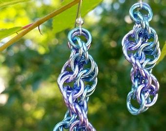 Double Helix Dangle Earrings