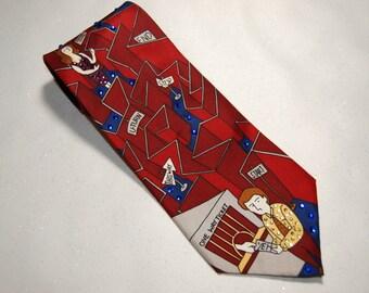 Day Tripper Beatles rhinestone necktie