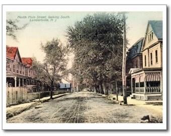 N. Main St., Lambertville, New Jersey NJ REPRO Vintage Postcard