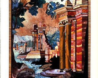 Antiques Pictured in Stone Pietre Dure Imagery Architectural Digest Magazine Article 1982