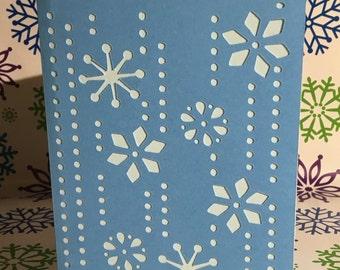 Handmade Snowflake Christmas Card set of 12
