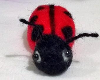 Needle Felted Lady Beetle