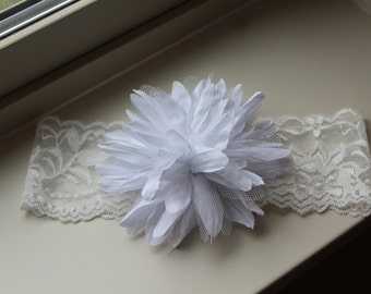 White Flower on Lace