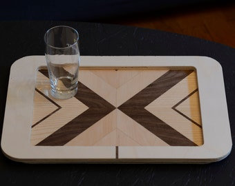 Handmade wood tray