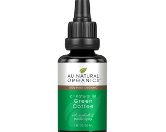 Green Coffee Oil 1oz, Organic Skin Care,  Natural Haircare, Natural Skincare, Coffee Skincare, Coffee Beauty Product