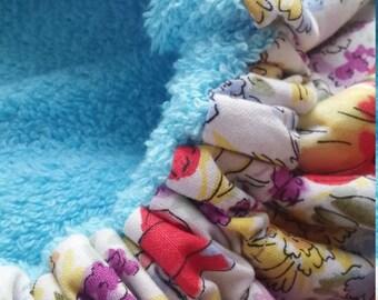 Sky Blue Flower Deep Conditioning Cap, Deep Conditioning Bonnet, Thermal Bonnet, Thermal Conditioning Cap