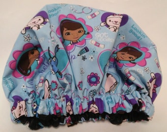 Doc McStuffins Blue Satin Bonnet, Kids Satin Lined Cap, 2