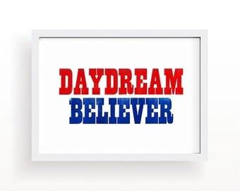 Daydream Believer A3 letterpress print
