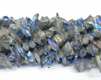 Crystal Point Beads, 16-20mn Blue Beads, Crystal Beads, 1 Strand,Blue Color Crystal, Wholesale Beads,