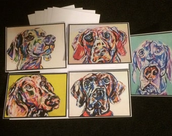 Weimaraner Note Cards Variety Pack 2