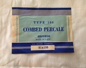 Cotton Percale Flat Twin Sheet with Original Label