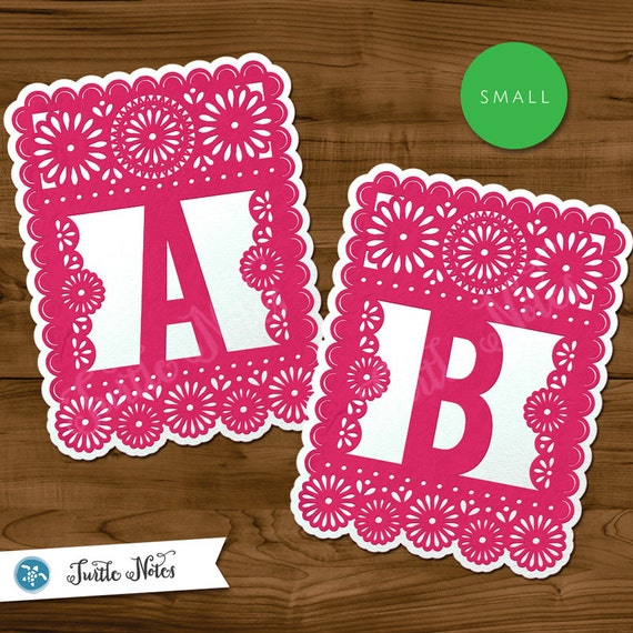 small pink  u0026 white papel picado   printable banner all