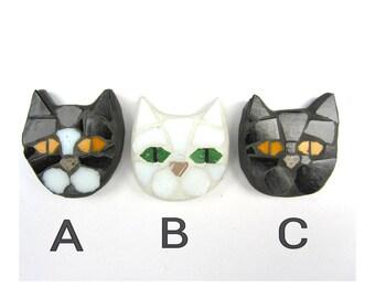 Mosaic cat fridge magnet,  size 5cm x 5cm