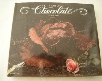 vintage cookbook-chocolate recipes-joy of chocolate-mouth watering -chocolate lovers-bakers-
