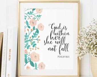 Scripture Print, Christian Wall Art, Bible Verse Wall Art, Printable Verses Nursery Bible Verse, Psalm print, Inspirational Quote, BV100