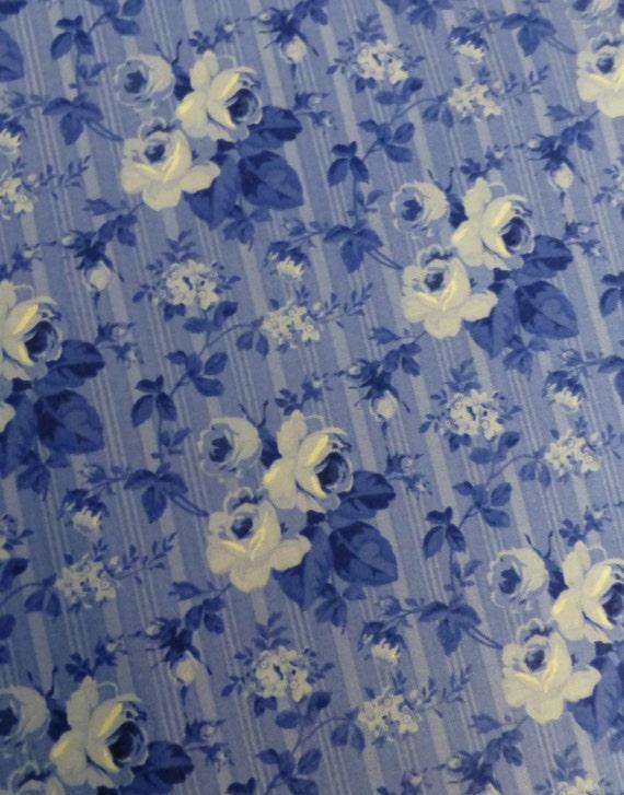 Porcelain Bluemedium Flowersmed Bluecotton By