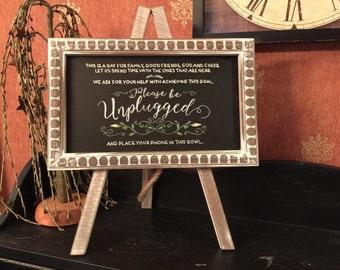 Hand Painted Custom Tabletop Chalkboard Easel