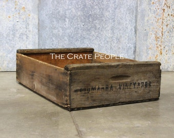 FREE SHIPPING -- Vintage Wood Crates - Short Grape Crate - Hundreds of RUSTIC Crates Available