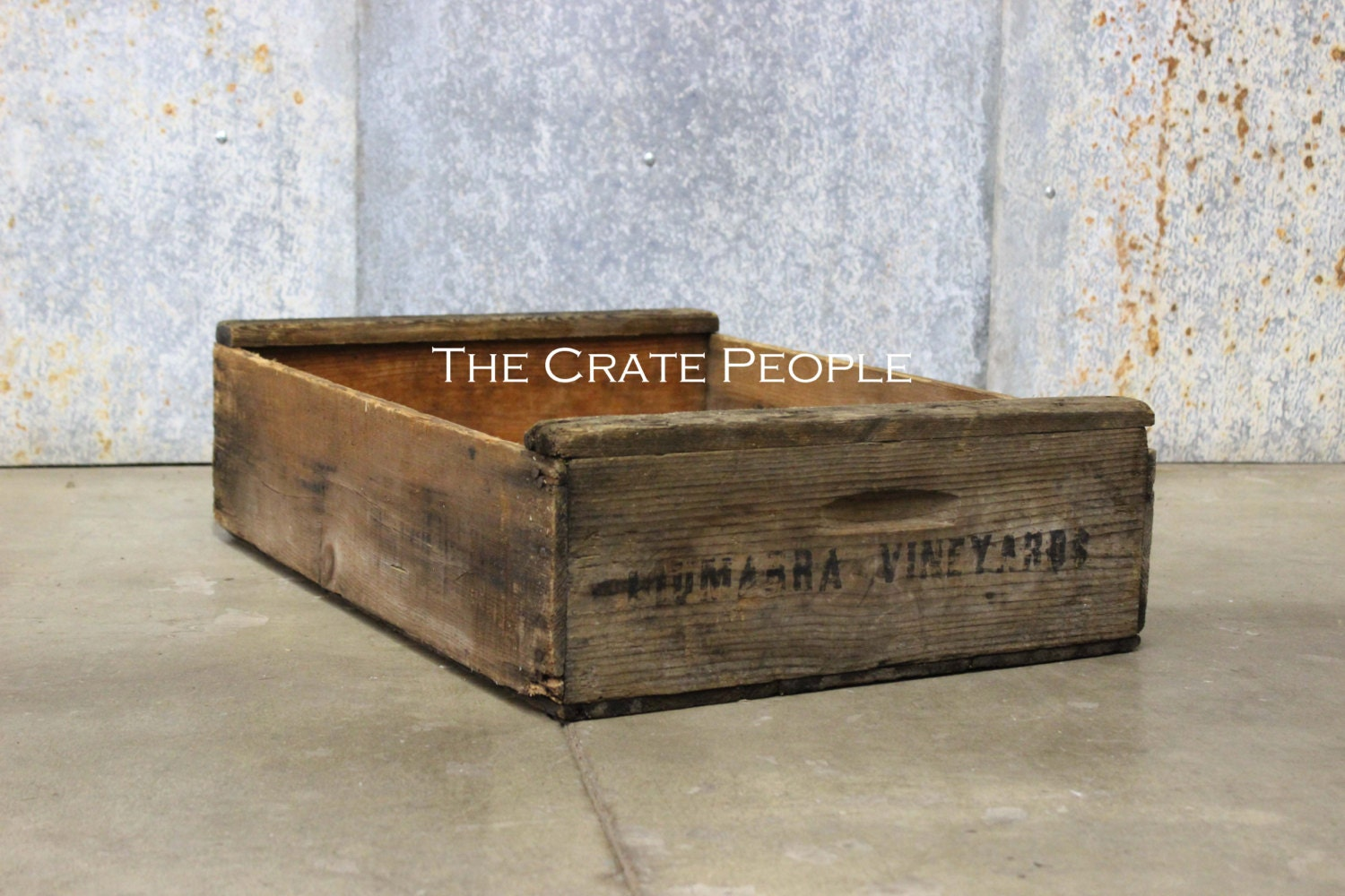 Free shipping vintage wood crates short grape crate for Old wooden crates