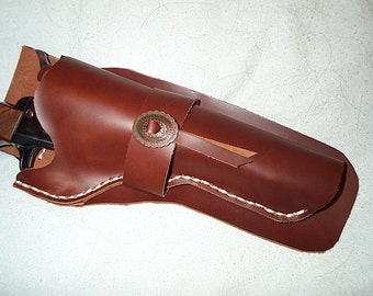 Black powder, big bore,  cowboy right hand revolver holster