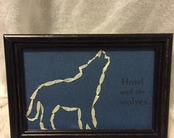 Wolf Outline Flower Frame *SALE*